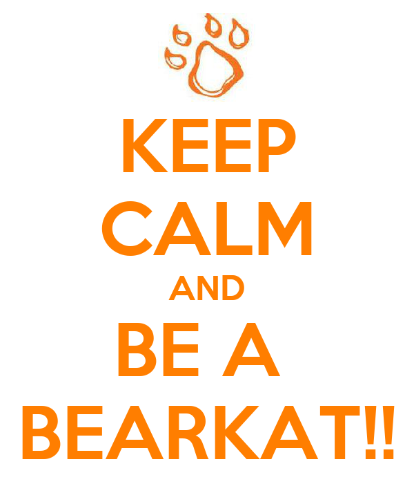 KEEP CALM AND BE A  BEARKAT!!