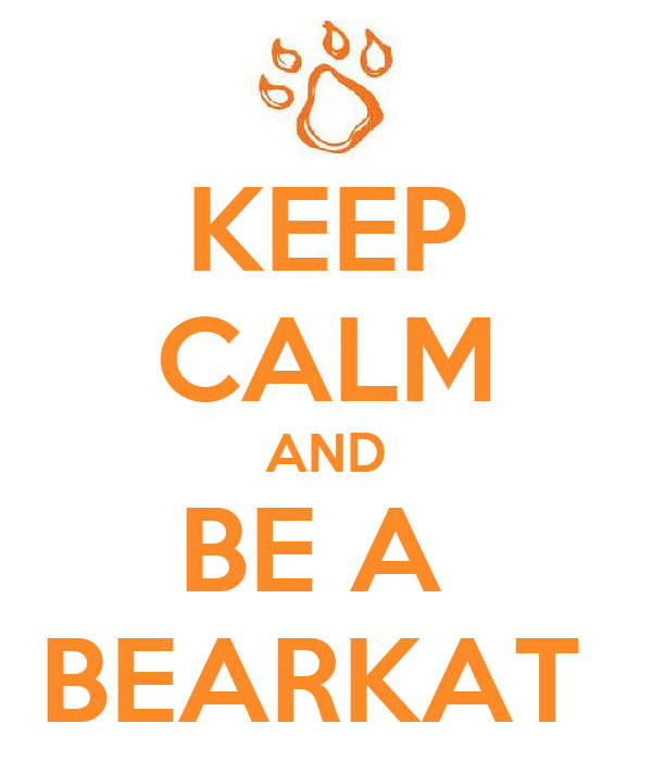 KEEP CALM AND BE A  BEARKAT