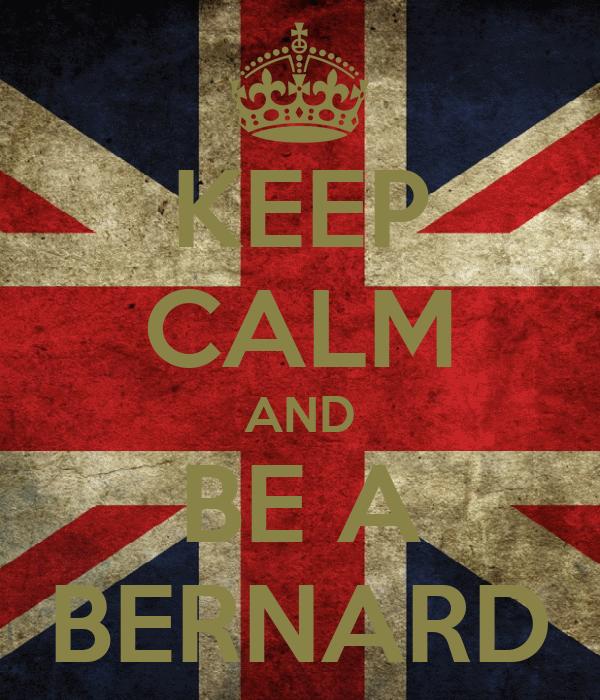 KEEP CALM AND BE A BERNARD