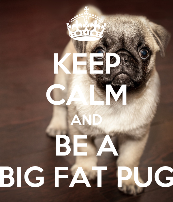 KEEP CALM AND BE A BIG FAT PUG