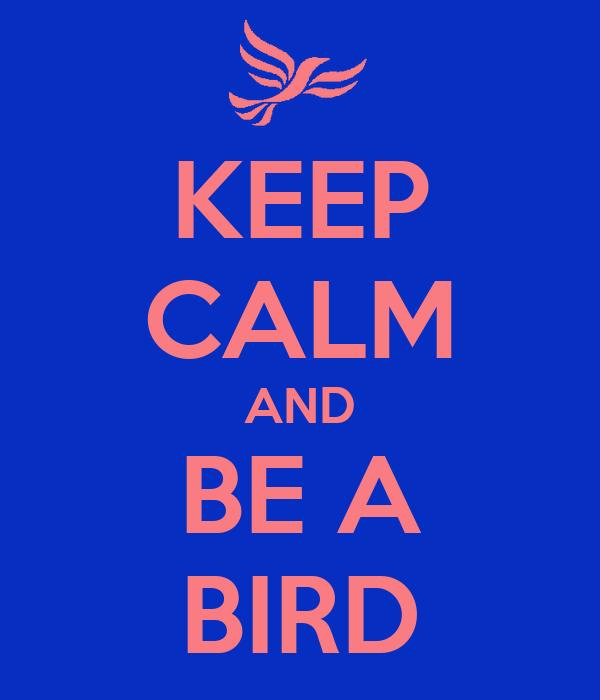 KEEP CALM AND BE A BIRD