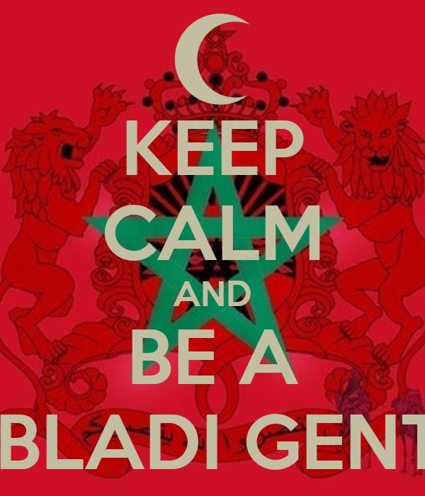 KEEP CALM AND BE A BLOCK BLADI GENTLEMAN