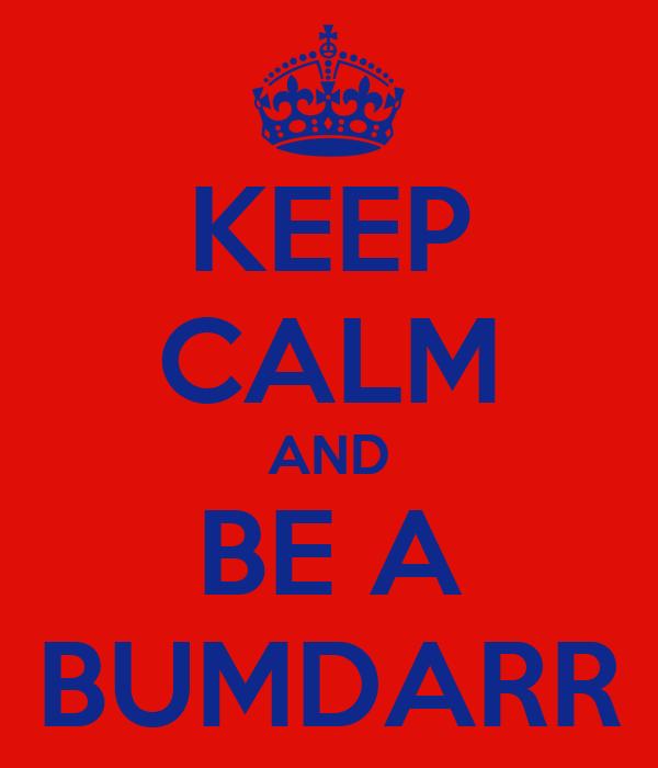 KEEP CALM AND BE A BUMDARR