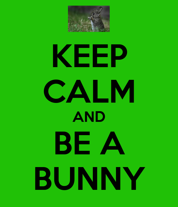 KEEP CALM AND BE A BUNNY
