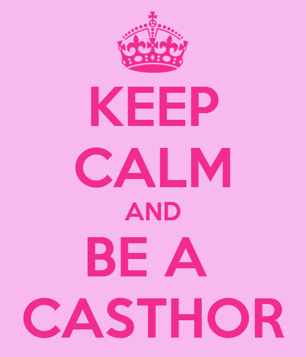 KEEP CALM AND BE A  CASTHOR