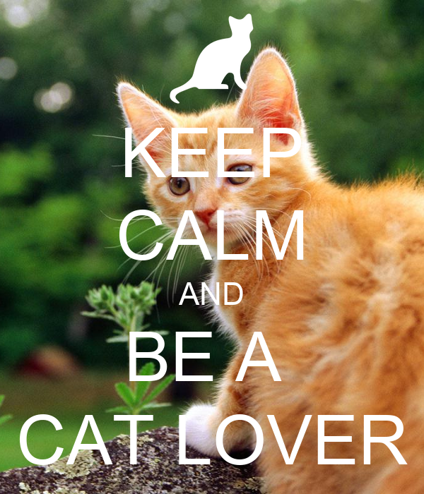 KEEP CALM AND BE A  CAT LOVER
