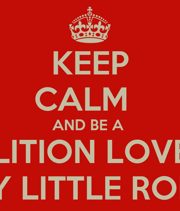 KEEP CALM   AND BE A  DEMOLITION LOVER & A  TINY LITTLE ROBOT