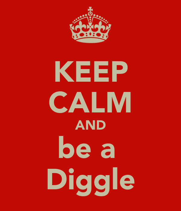 KEEP CALM AND be a  Diggle