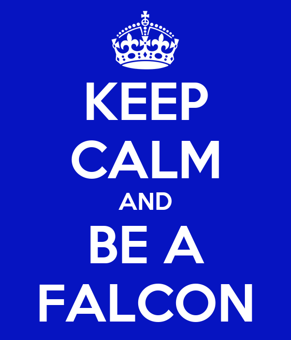 KEEP CALM AND BE A FALCON