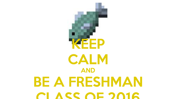 KEEP CALM AND BE A FRESHMAN CLASS OF 2016
