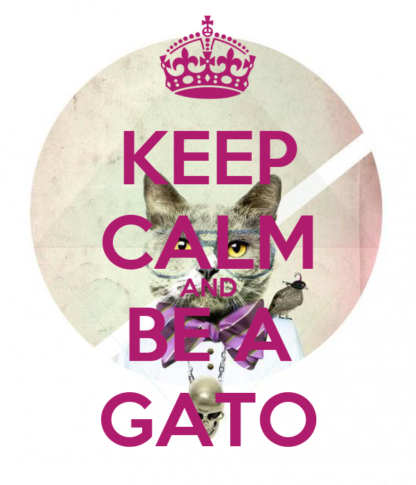 KEEP CALM AND BE A GATO