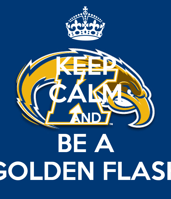 KEEP CALM AND BE A GOLDEN FLASH