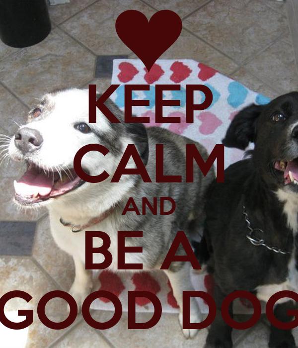 KEEP CALM AND BE A  GOOD DOG
