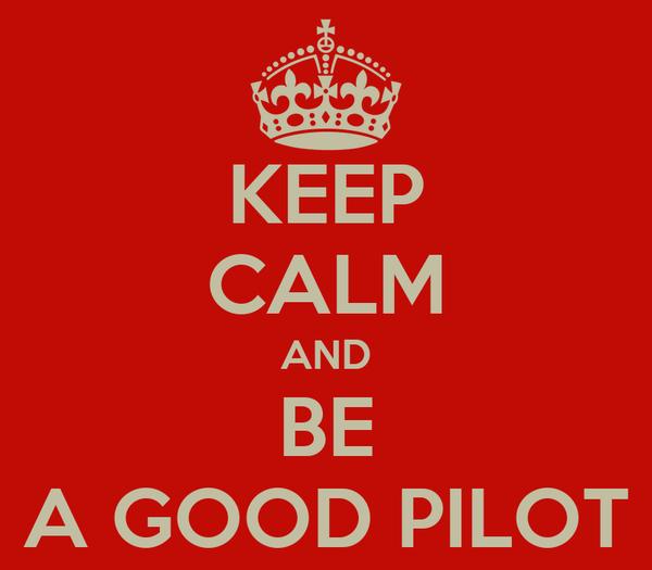 KEEP CALM AND BE A GOOD PILOT