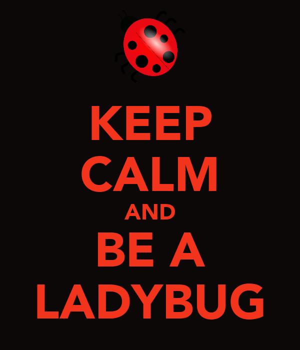 KEEP CALM AND BE A LADYBUG