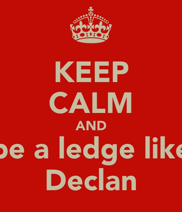 KEEP CALM AND be a ledge like Declan