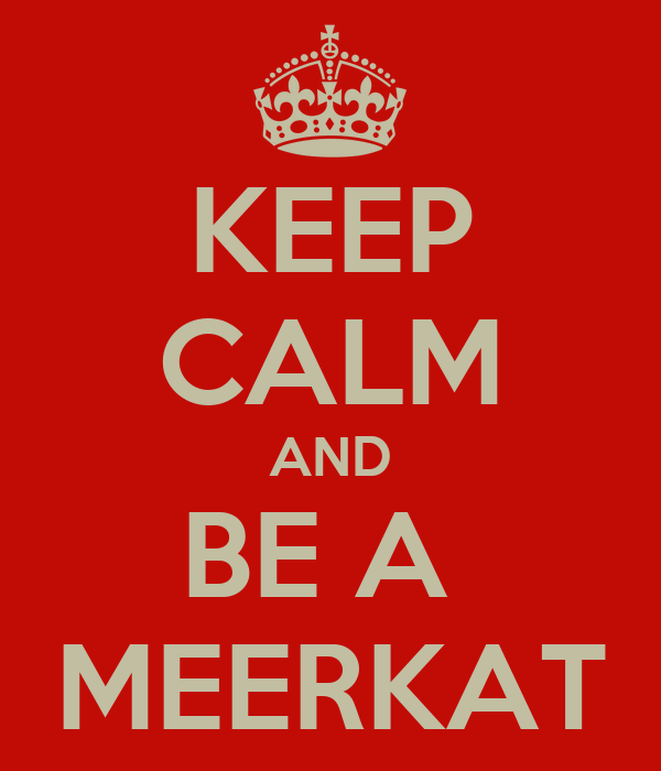 KEEP CALM AND BE A  MEERKAT