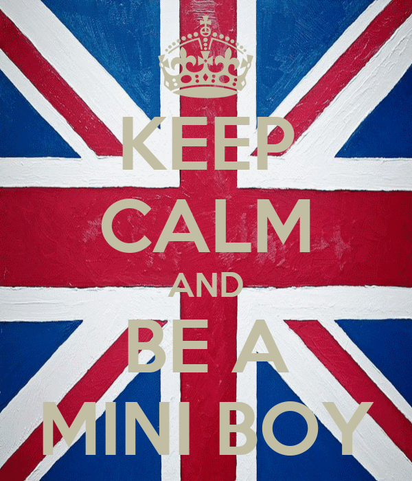 KEEP CALM AND BE A MINI BOY