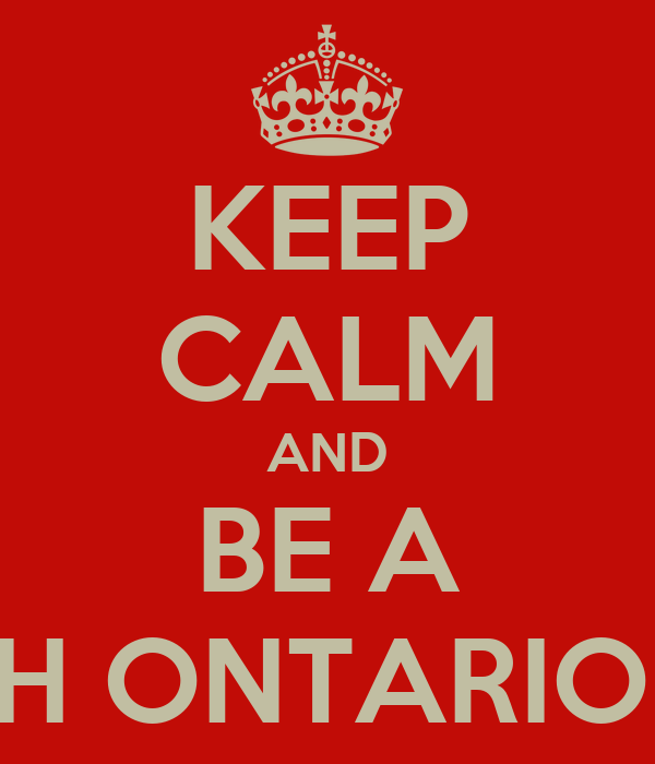 KEEP CALM AND BE A MISS NORTH ONTARIO DELEGATE