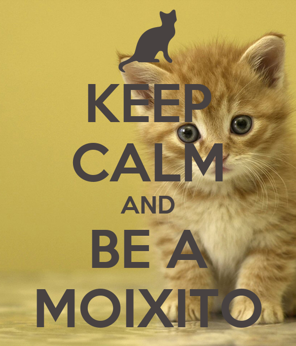 KEEP CALM AND BE A MOIXITO
