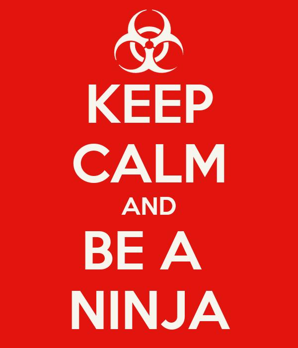 KEEP CALM AND BE A  NINJA