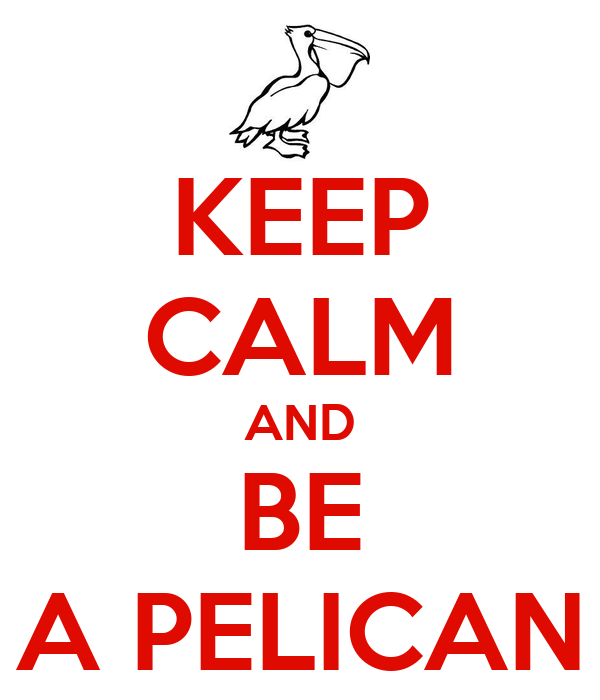 KEEP CALM AND BE A PELICAN
