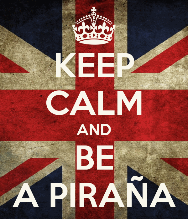 KEEP CALM AND BE A PIRAÑA