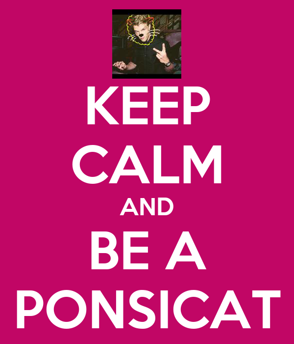 KEEP CALM AND BE A PONSICAT