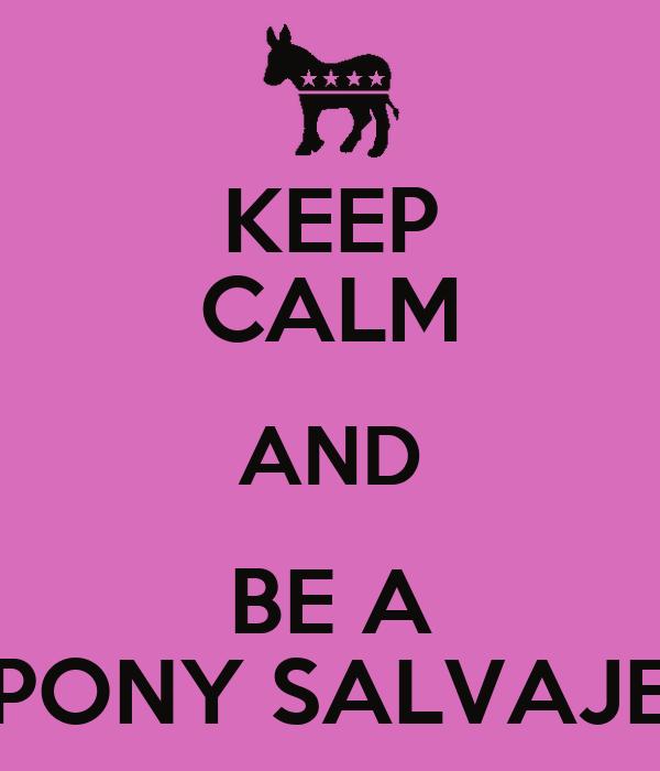 KEEP CALM AND BE A PONY SALVAJE