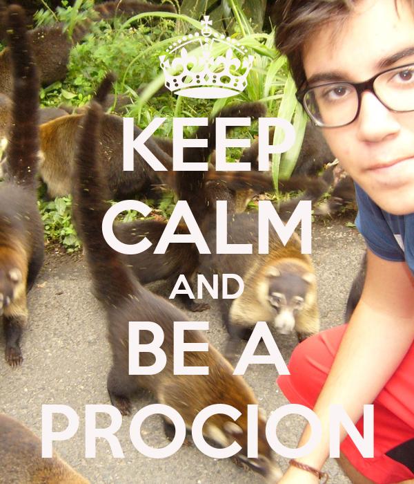KEEP CALM AND BE A PROCION