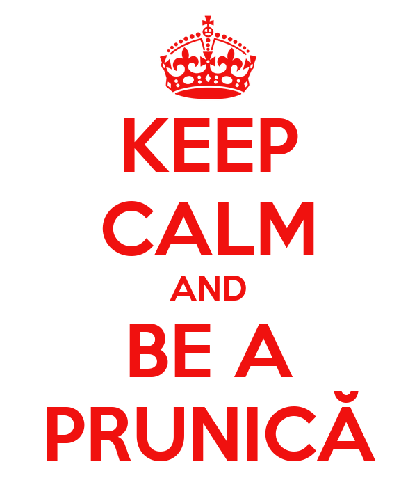 KEEP CALM AND BE A PRUNICĂ