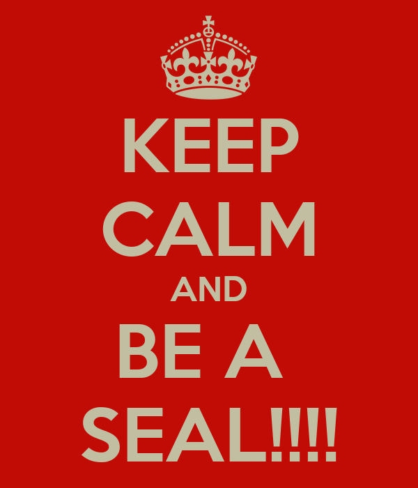 KEEP CALM AND BE A  SEAL!!!!