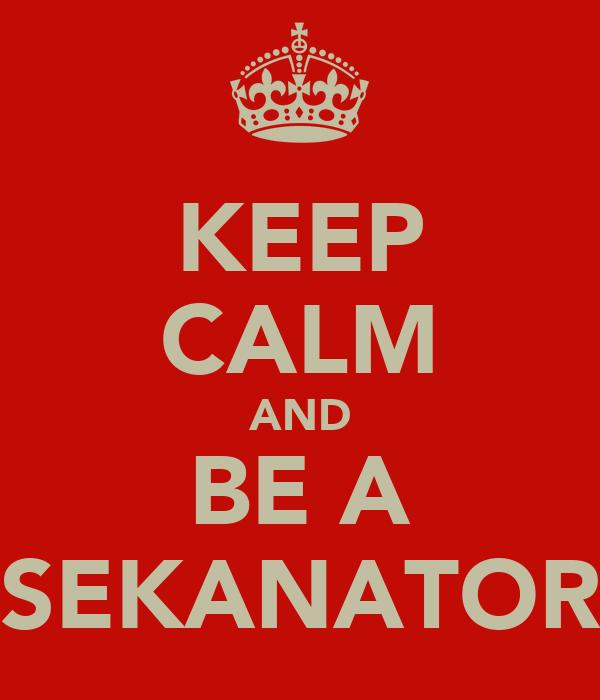 KEEP CALM AND BE A SEKANATOR