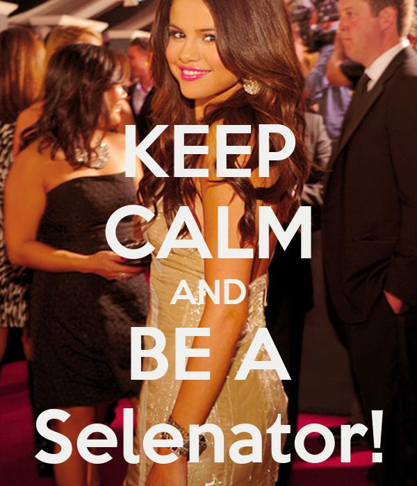 KEEP CALM AND BE A Selenator!