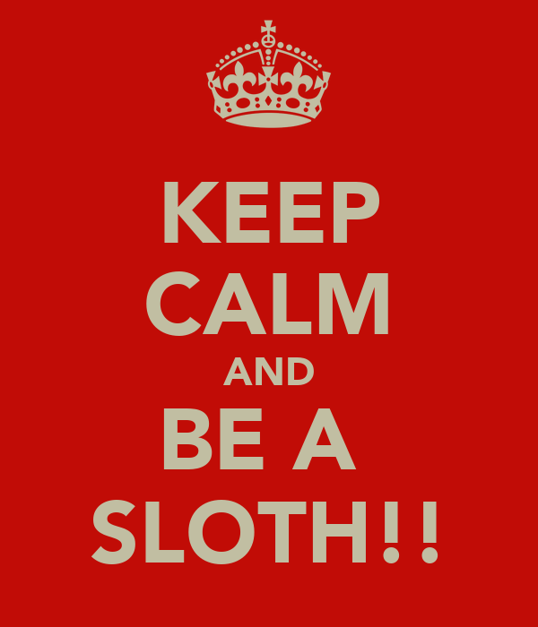 KEEP CALM AND BE A  SLOTH!!