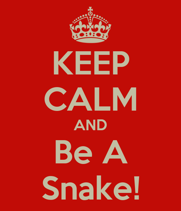 KEEP CALM AND Be A Snake!