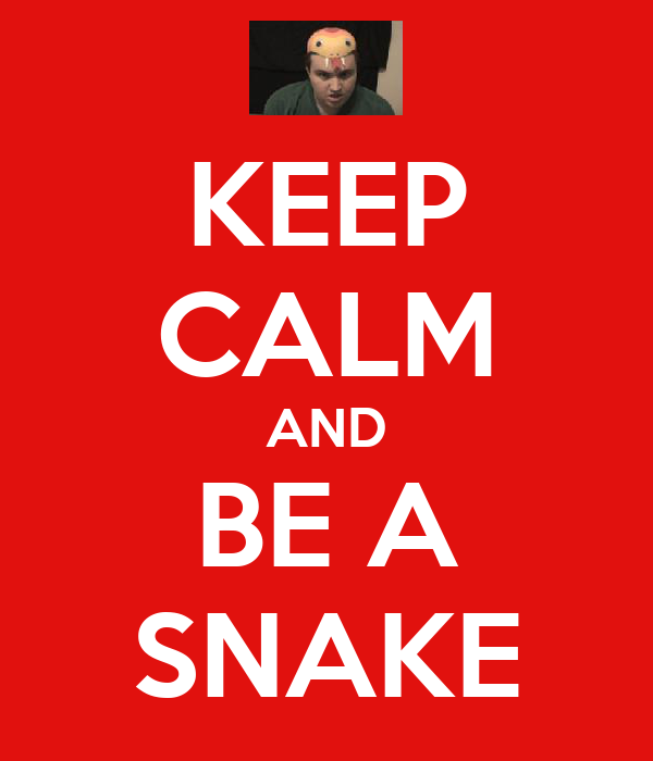 KEEP CALM AND BE A SNAKE