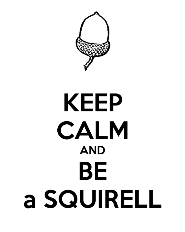 KEEP CALM AND BE a SQUIRELL