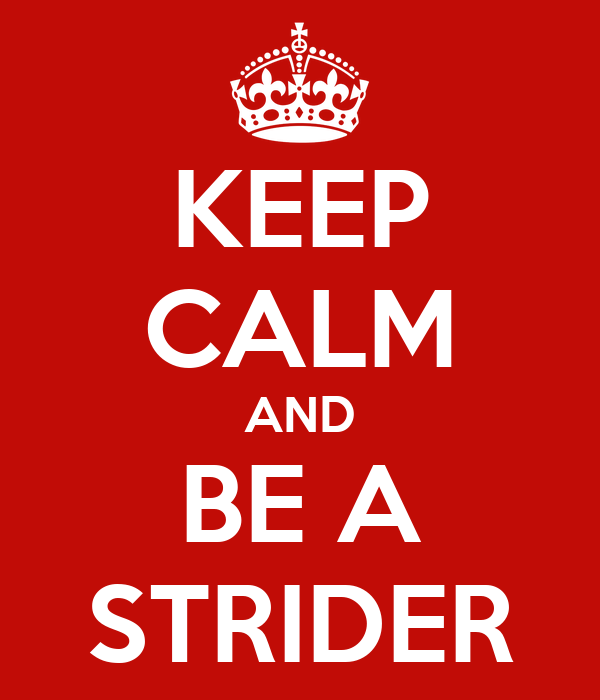 KEEP CALM AND BE A STRIDER