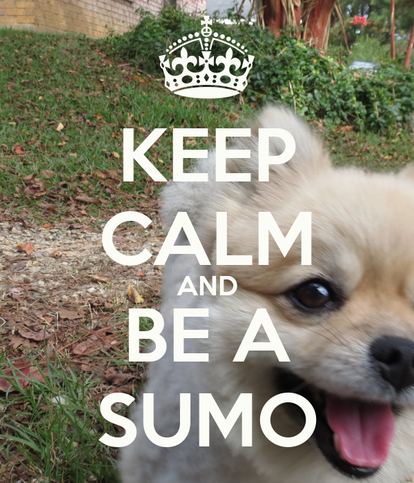 KEEP CALM AND BE A SUMO