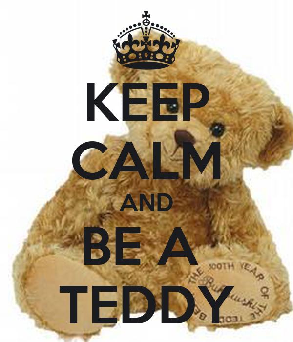 KEEP CALM AND BE A  TEDDY