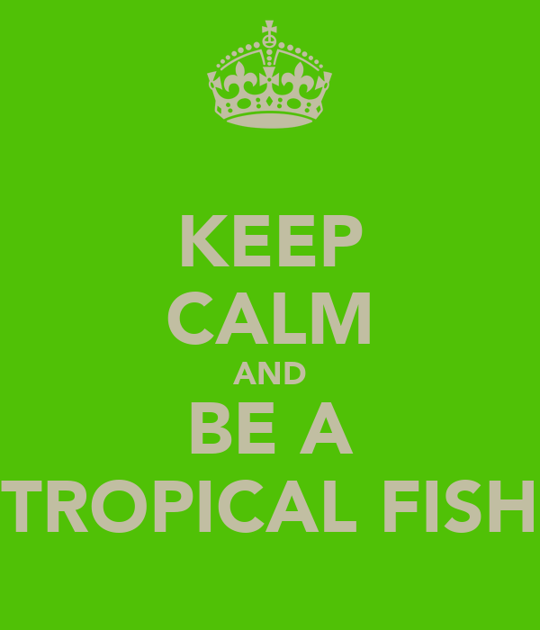 KEEP CALM AND BE A TROPICAL FISH