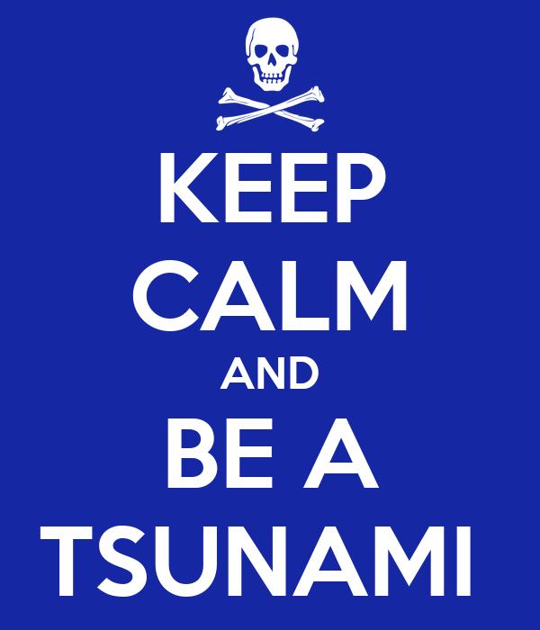 KEEP CALM AND BE A TSUNAMI