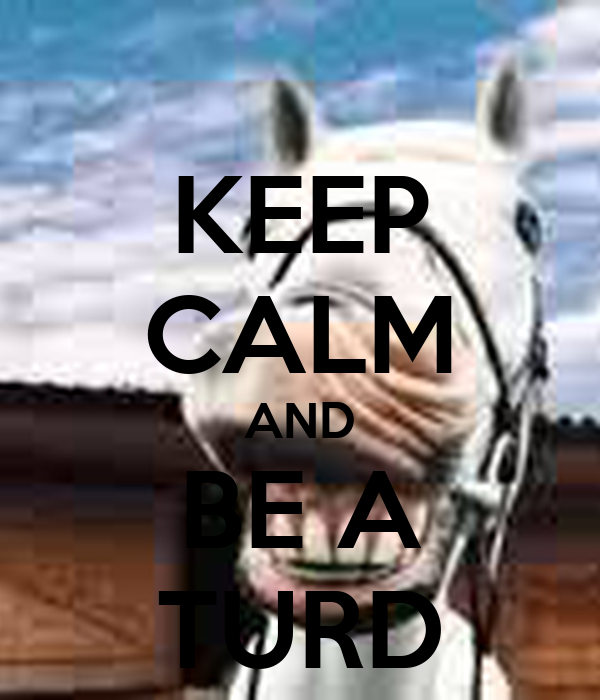 KEEP CALM AND BE A TURD