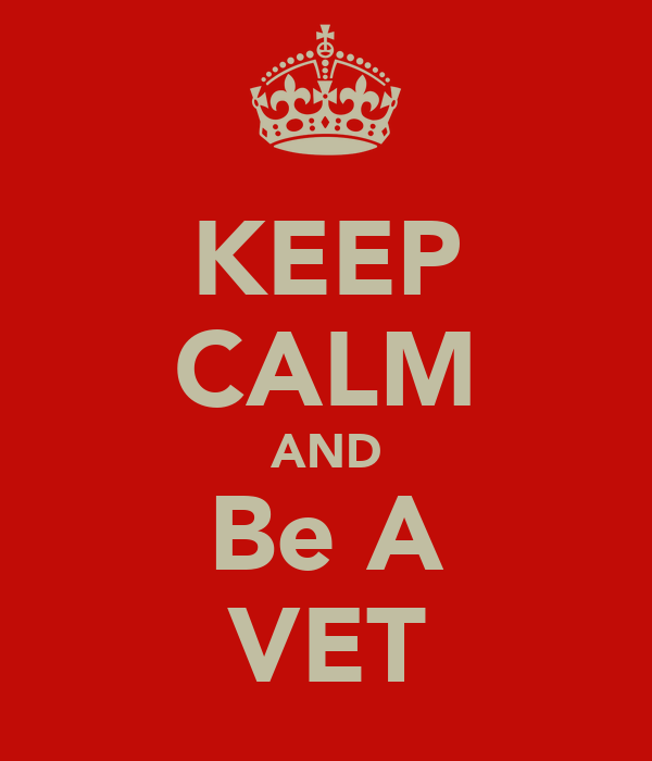 KEEP CALM AND Be A VET