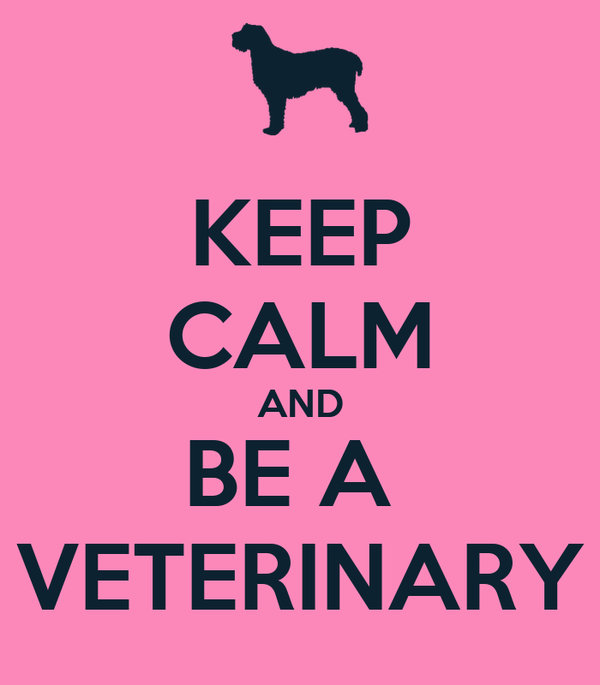 KEEP CALM AND BE A  VETERINARY