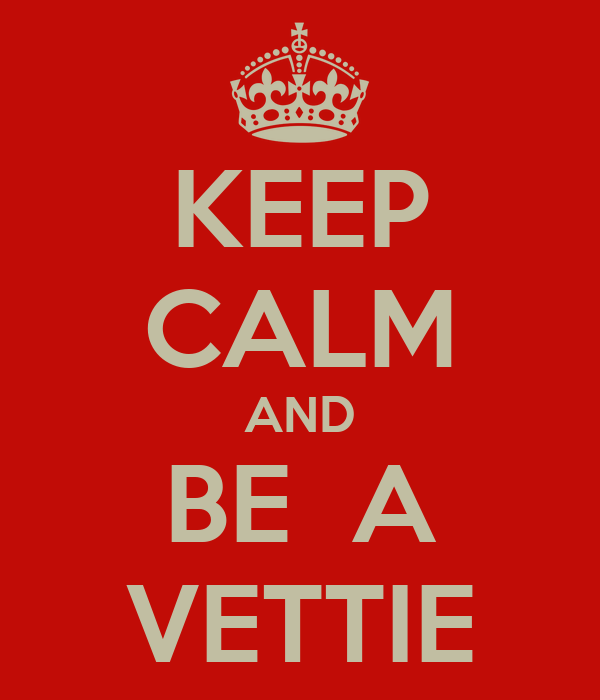 KEEP CALM AND BE  A VETTIE
