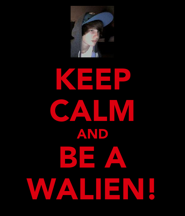 KEEP CALM AND BE A WALIEN!