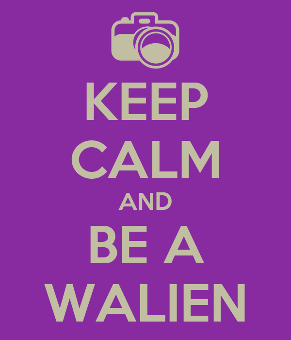 KEEP CALM AND BE A WALIEN