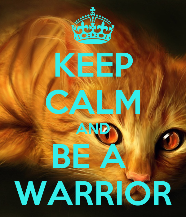 KEEP CALM AND BE A  WARRIOR